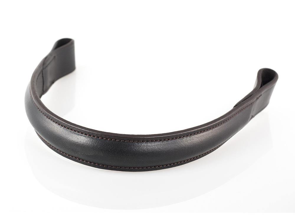 PLAIN RAISED SHOW - HAVANA BROWBAND - Flexible Fit Equestrian Australia
