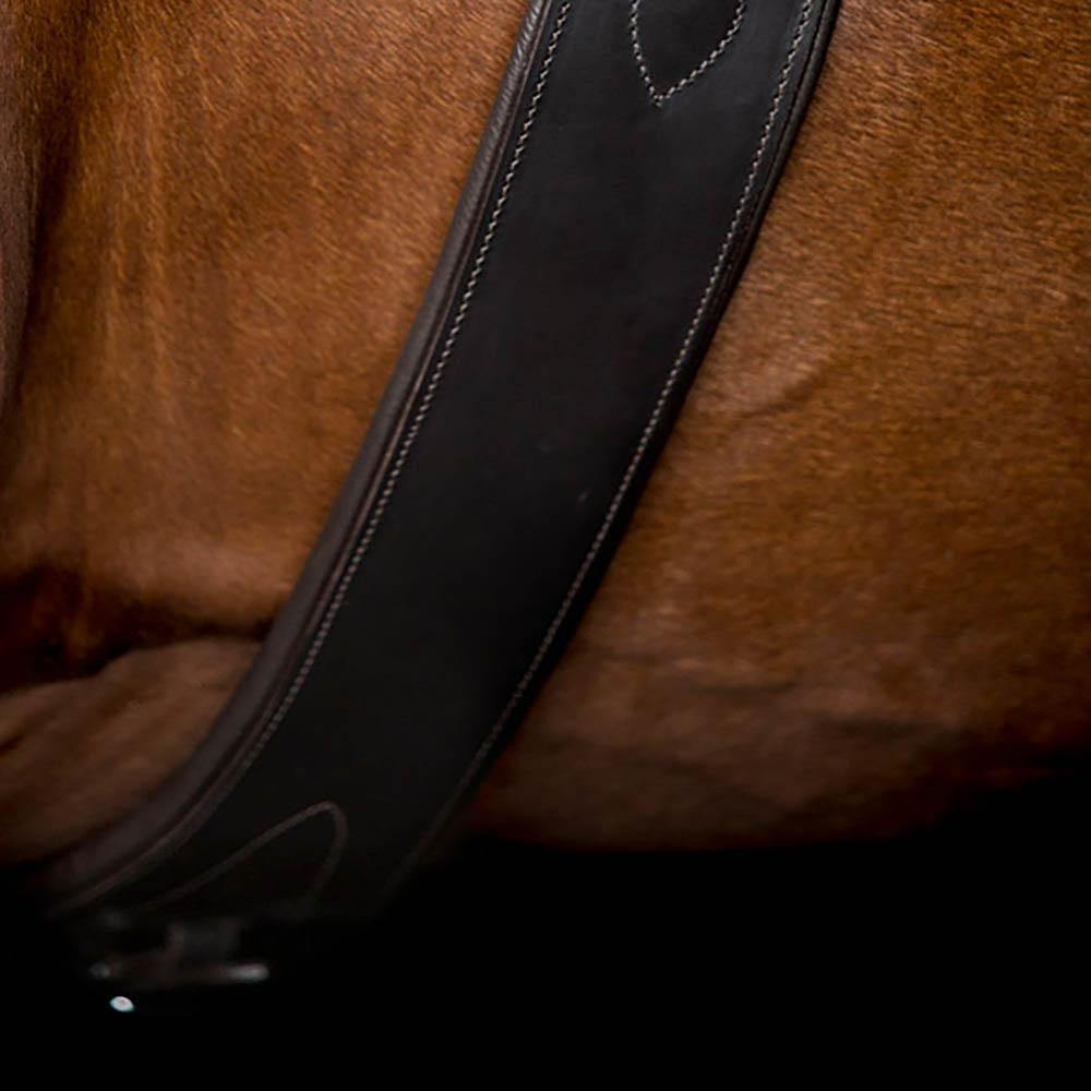 LONG GEL PADDED BELLY GIRTH - HAVANA - Flexible Fit Equestrian Australia