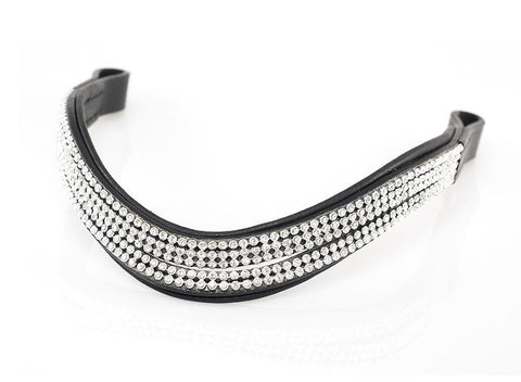 5 ROW SPLIT WAVE - BLACK BROWBAND