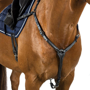 RAISED LEATHER BREASTPLATE - BLACK