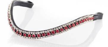 RED AND CLEAR THIN CRYSTAL WAVE - BLACK BROWBAND
