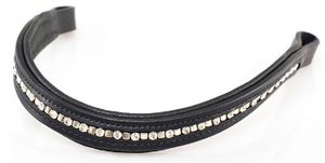 MINI CLINCHER CLEAR CRYSTAL WAVE - BLACK BROWBAND