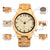 Natural Wood Watch For Men/Women Luminous