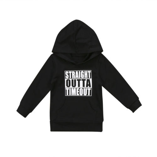 STRAIGHT OUTTA TIMEOUT Hooded  0-5T