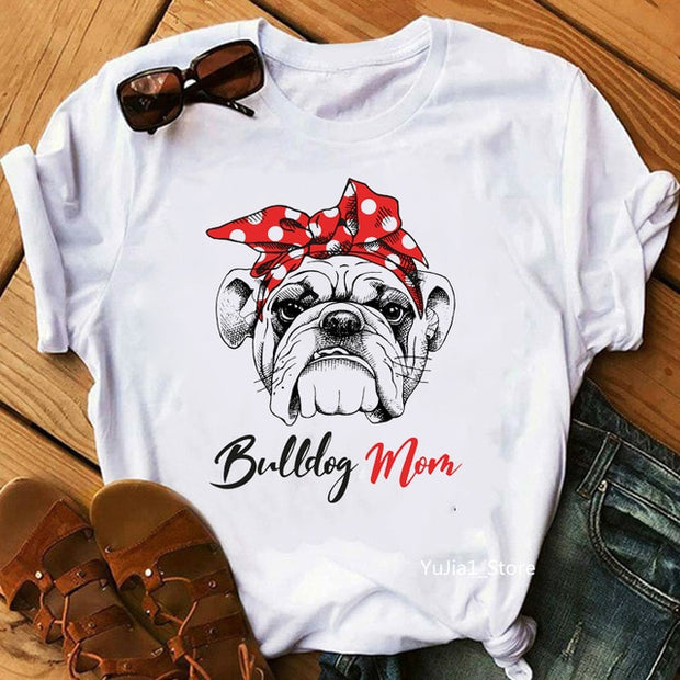 Vintage French bulldog mom