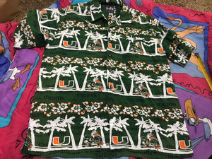 Miami Hurricanes all over shirt XL