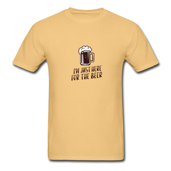 Here for Beer T-Shirt - light yellow