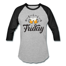 Load image into Gallery viewer, Hello Friday Baseball T-Shirt - heather gray/black