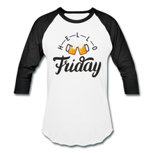 Load image into Gallery viewer, Hello Friday Baseball T-Shirt - white/black