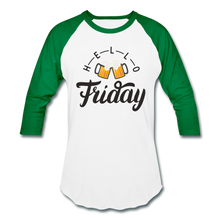 Load image into Gallery viewer, Hello Friday Baseball T-Shirt - white/kelly green