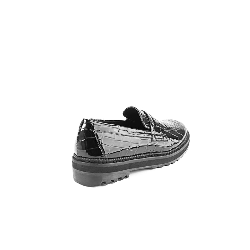 WINDY MOCASIN CROCO NEGRO