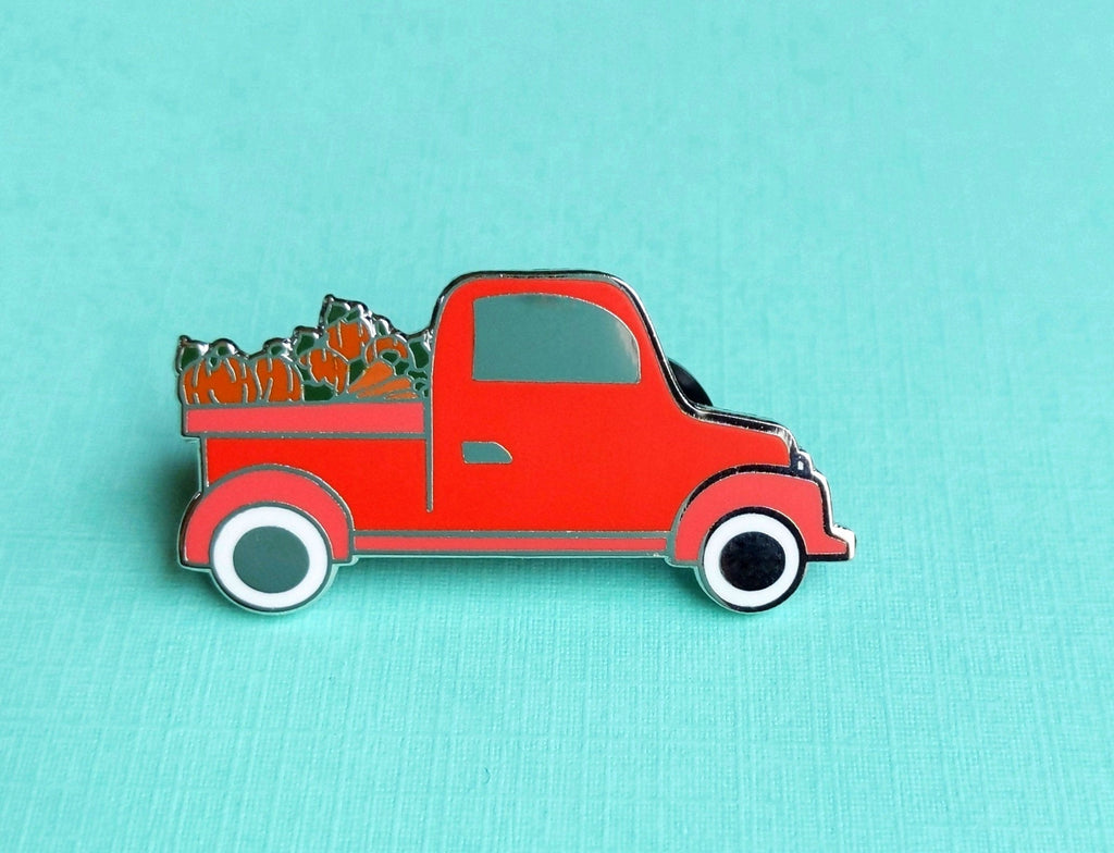 ENAMEL PIN, Fall Farm Truck