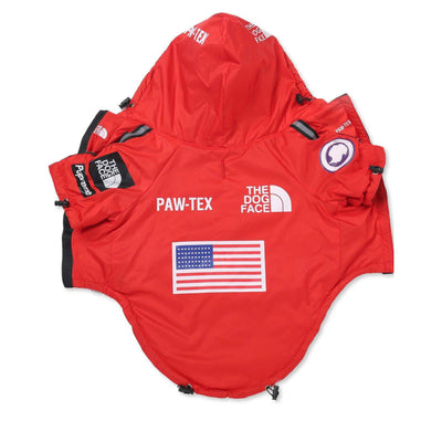 EXPAWDITION WINDBREAKER RED-Pawlenciaga Pets