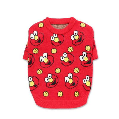 SESAME PUP ELMO SWEATER