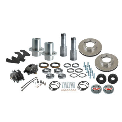 Solid Axle Full Float Dana 60 5 Lug Rear End Kit Hubs, Bearings, Races, Spindles, Seals, Calipers, Brake Brackets, Rotors