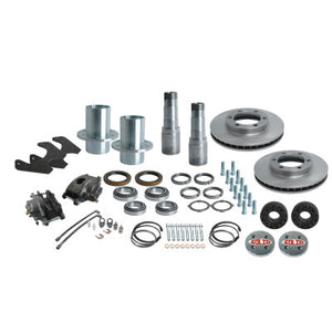 Solid Axle Full Float Dana 60 6 Lug Rear End Kit Hubs, Bearings, Races, Spindles, Seals, Calipers, Brake Brackets, Rotors