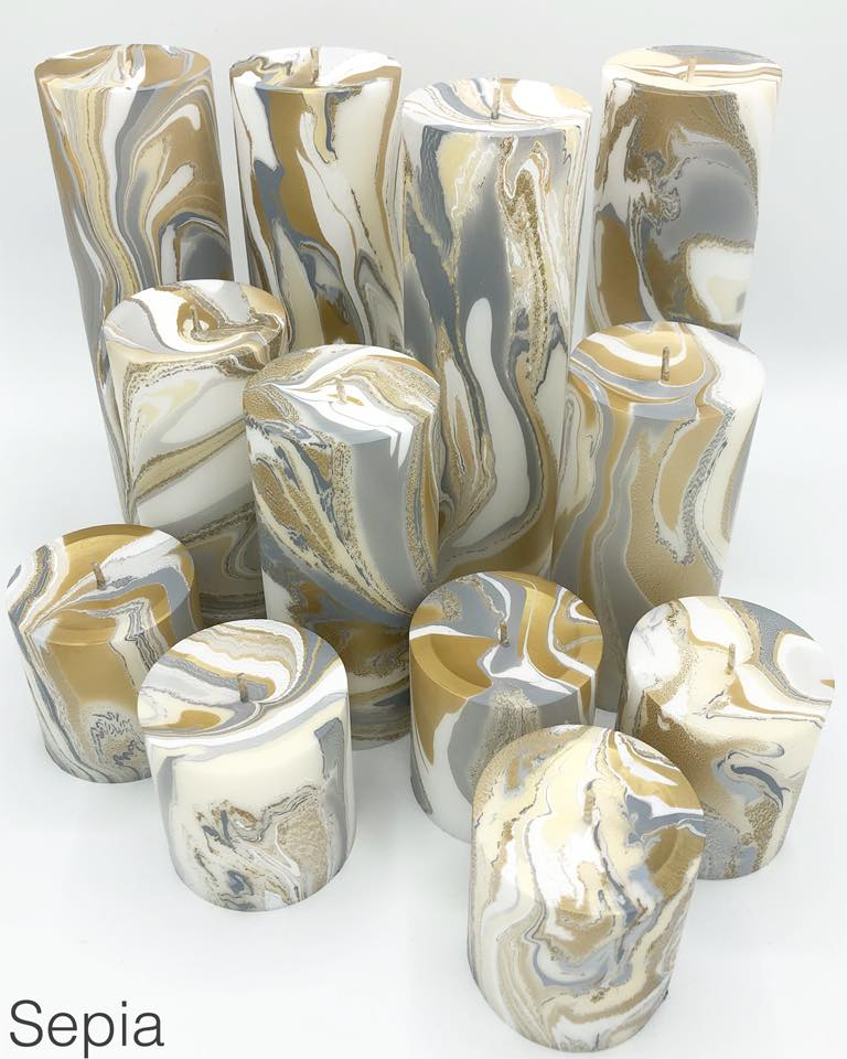 Sepia Marbled Pillar