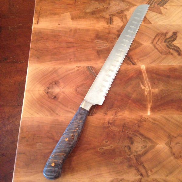Stained Sycamore Serrated Knife
