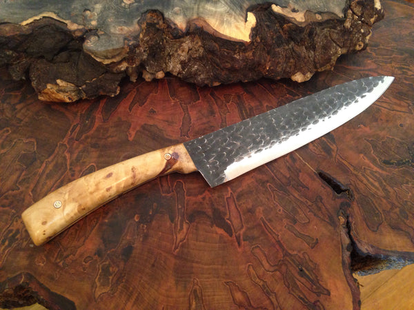 Box Elder Hammered Steel Knife - No One Alike