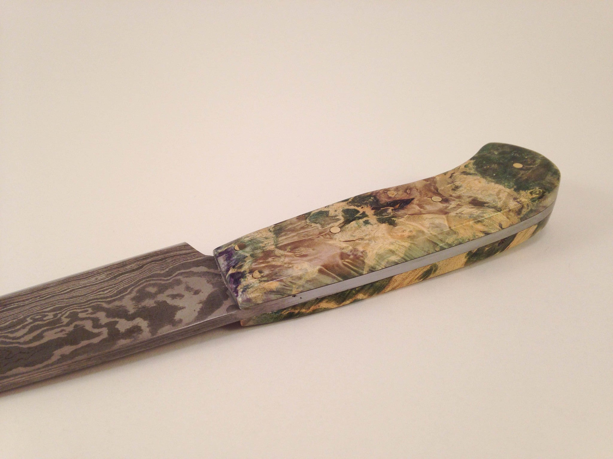 Knife (Multi-colored Box Elder Burl) - No One Alike