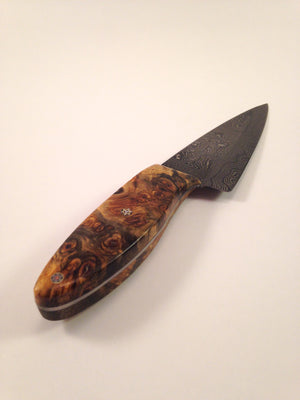 Kitchen Knife (Buck-Eye Burl Damascus Chef Blade) - No One Alike
