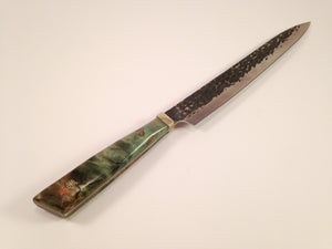 Sugar Maple Hammered Steel Knife - No One Alike