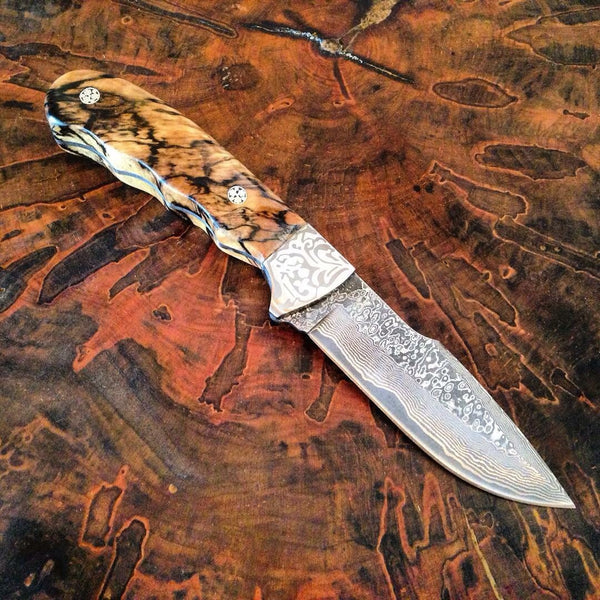 Spalted Maple Hunting Knife - No One Alike