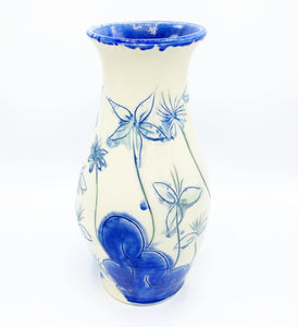 Salt Fired Vase Sapphire - No One Alike