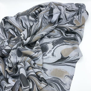Silver Dove Large Silk Wrap - No One Alike