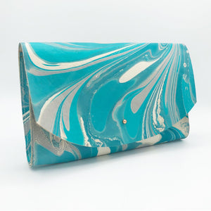 Aqua Tessa Curved Clutch - No One Alike