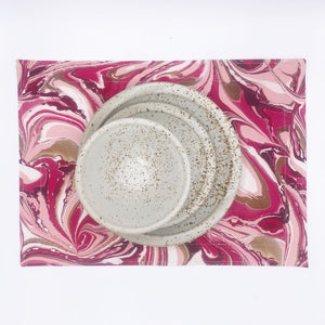 Cranberry Blush Placemat Set MADE TO ORDER