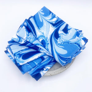 Marbled Sapphire Napkins