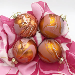 Peach Melba Small Ornament Set - No One Alike