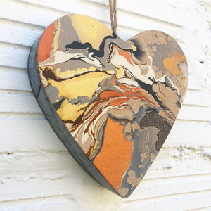 Copper Love Leather Heart - No One Alike