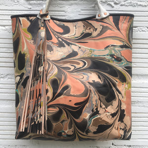 Large Tote Copper & Black - No One Alike