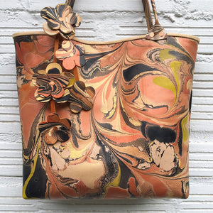 Copper Floral Small Tote - No One Alike