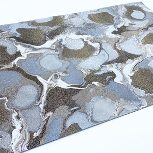 Stone Umber Exotic Large Leather Sheet