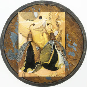 Black Metallic Earrings - No One Alike