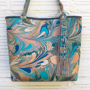 Cerulean Blue Small Tote - No One Alike