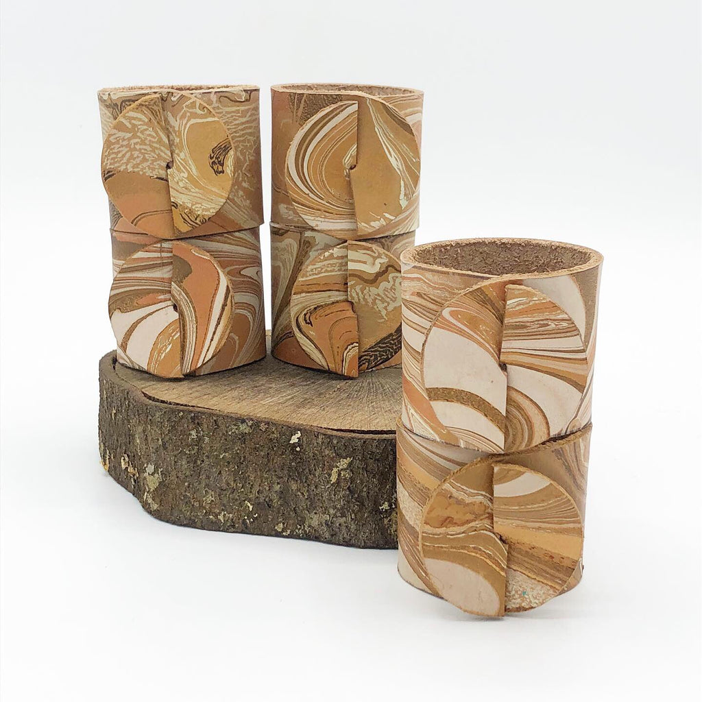 Bermuda Sand Napkin Ring Set - No One Alike