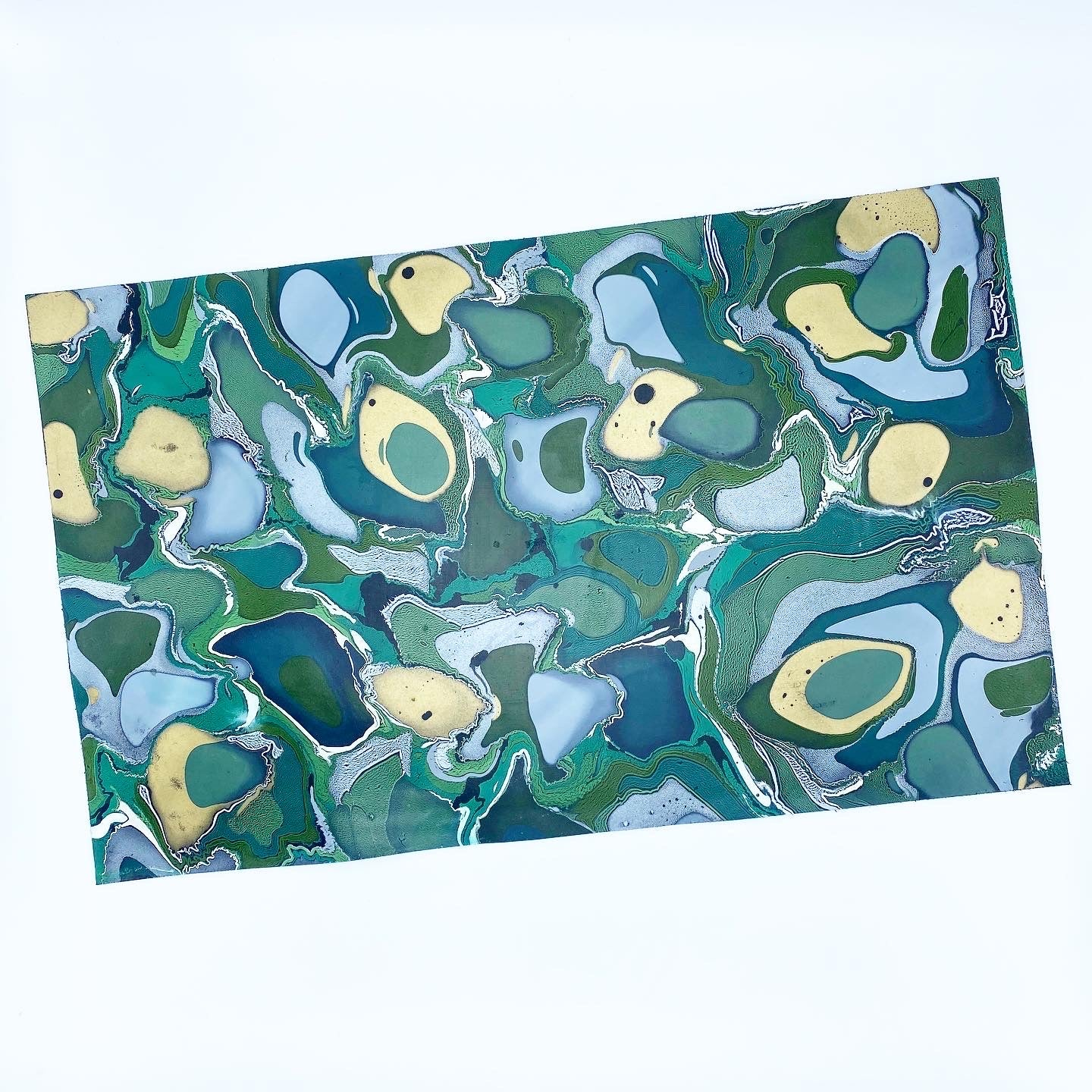 Golden Malachite Large Leather Sheet