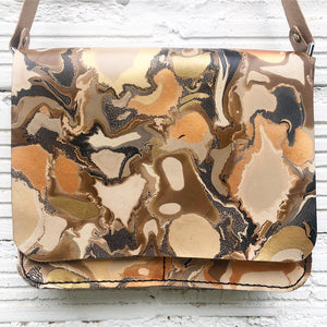 Bronze Crackle Large Messenger - No One Alike