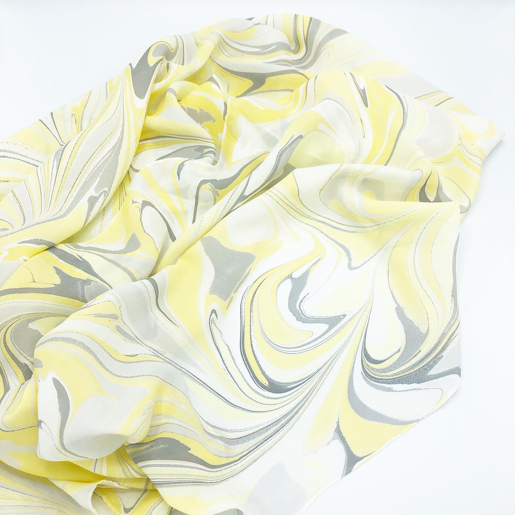 Limoncello Large Silk Wrap - No One Alike