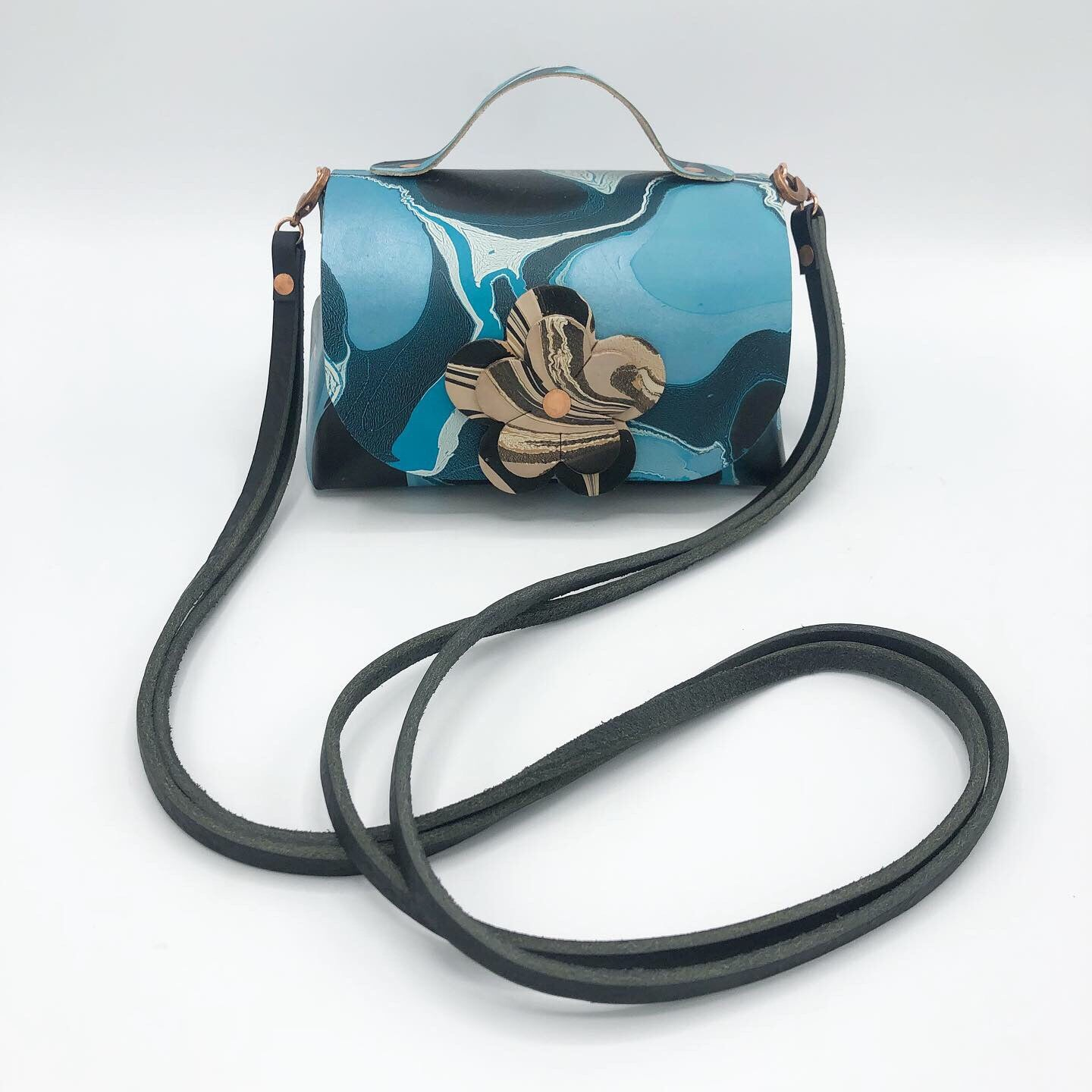 Turquoise Frost Mini Satchel - No One Alike