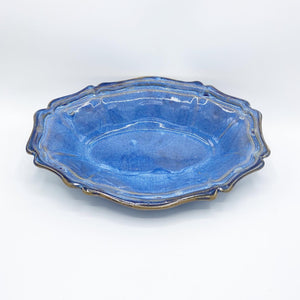 Bemidji Blue Oval Fluted Dish - No One Alike