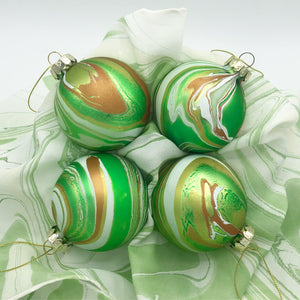 Green Gold Small Ornament Set - No One Alike