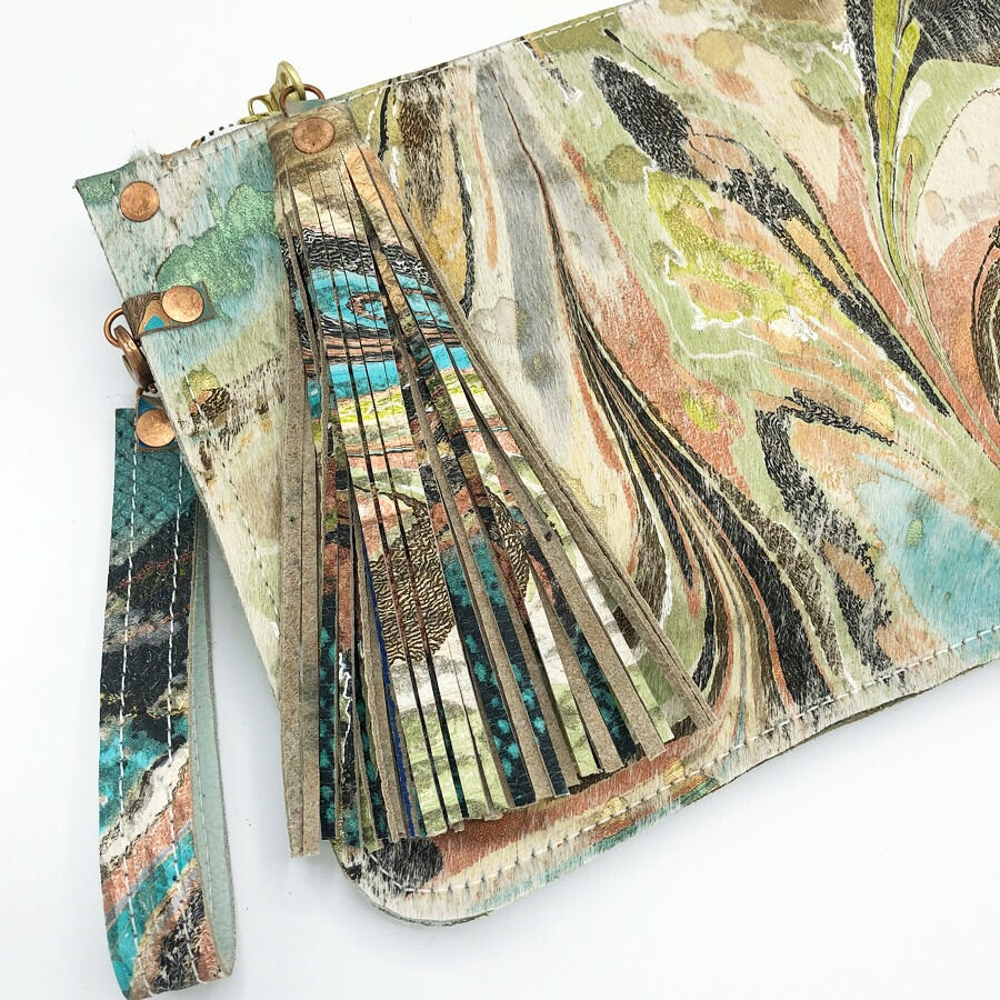 Teal Metallic Wristlet - No One Alike