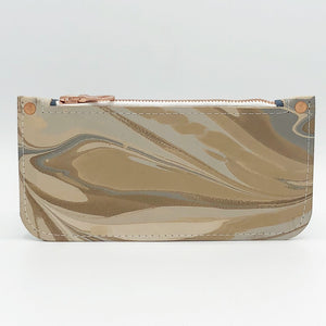 Elegant Beige Zipper Pouch - No One Alike