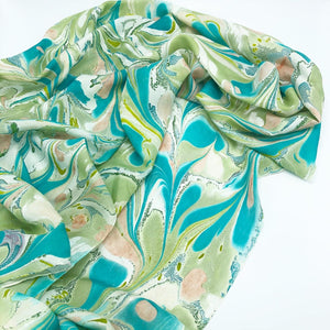 Tropic Jade Large Silk Wrap - No One Alike