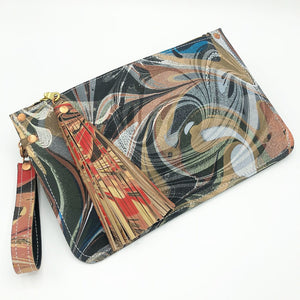 Tricolor Charcoal Wristlet - No One Alike